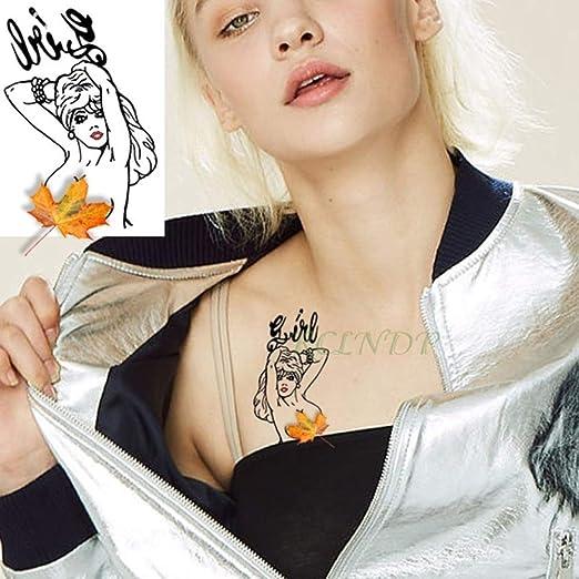 ljmljm 6 Piezas Impermeable Tatuaje Pegatina Amy Winehouse Tatto ...