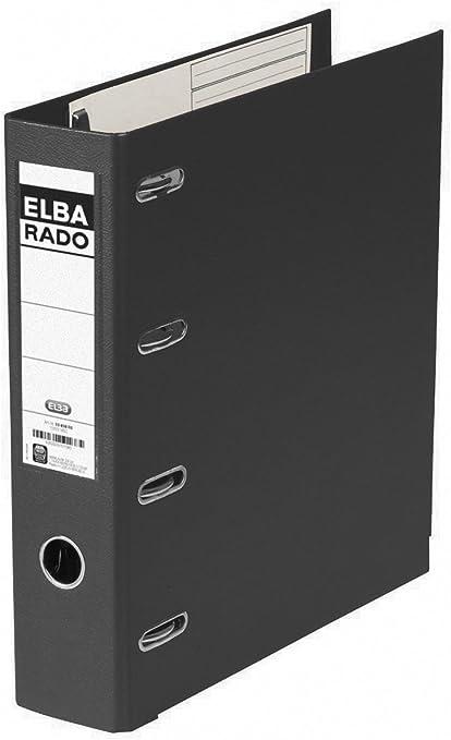 Elba Rado Plast - Archivador palanca en PVC, A4, color negro ...