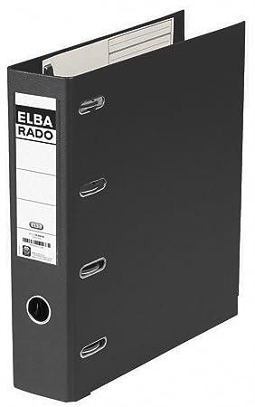 Elba Rado Plast - Archivador palanca en PVC, A4, color negro: Amazon.es: Oficina y papelería
