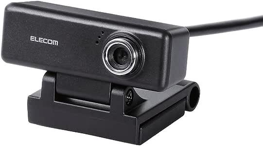 エレコム Webカメラ マイク内蔵 200万画素 高精細ガラスレンズ ブラック UCAM-C520FBBK