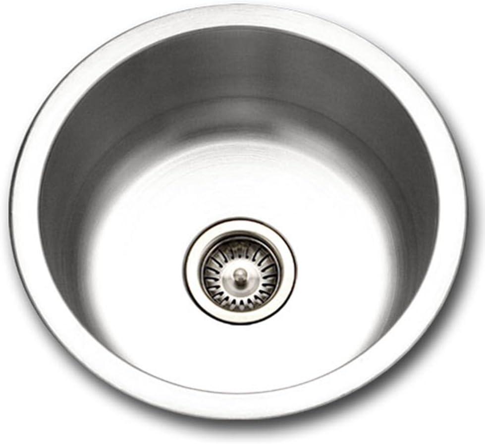 Houzer SCF-1830-1 Hospitality Series Topmount Stainless Steel Round Bar Prep Sink