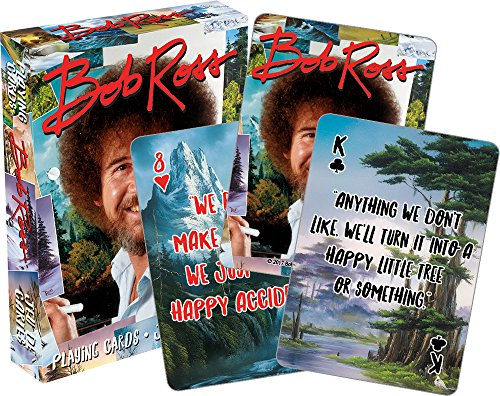 Aquarius Bob Ross Quotes Multi Image Playing Cards Deck