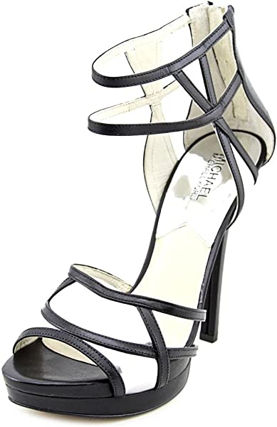 dd9de221f6f5 MICHAEL Michael Kors Jaida Back Zip Women US 6.5 Black Platform Heel