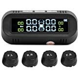 VIpeco C68 USB+Solar Car TPMS Tire Pressure Monitor System with 4 External Sensors