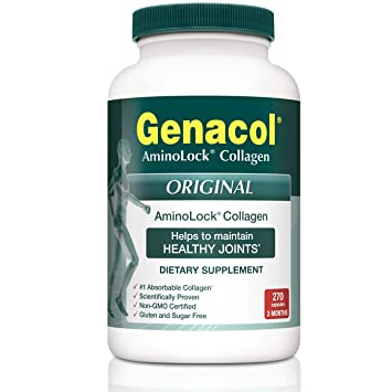 GENACOL Original AminoLock Collagen Peptides (270 Capsules) | Joint Support Supplement for Men...