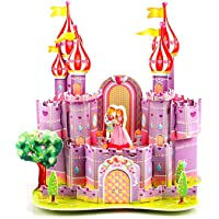 Hunpta@ 3D Haus, 3D Paper Board Puzzle Früherziehung Bau Montieren Spielzeug Kinder Geschenk (A)