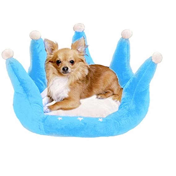 Amazon.com : crazy-shop Pet Sleeping Bags Nest Dog Litters Bed for Cats Small Puppy Blue Crow Princess Bed Cushion Basket Sofa, Blue, M : Pet Supplies