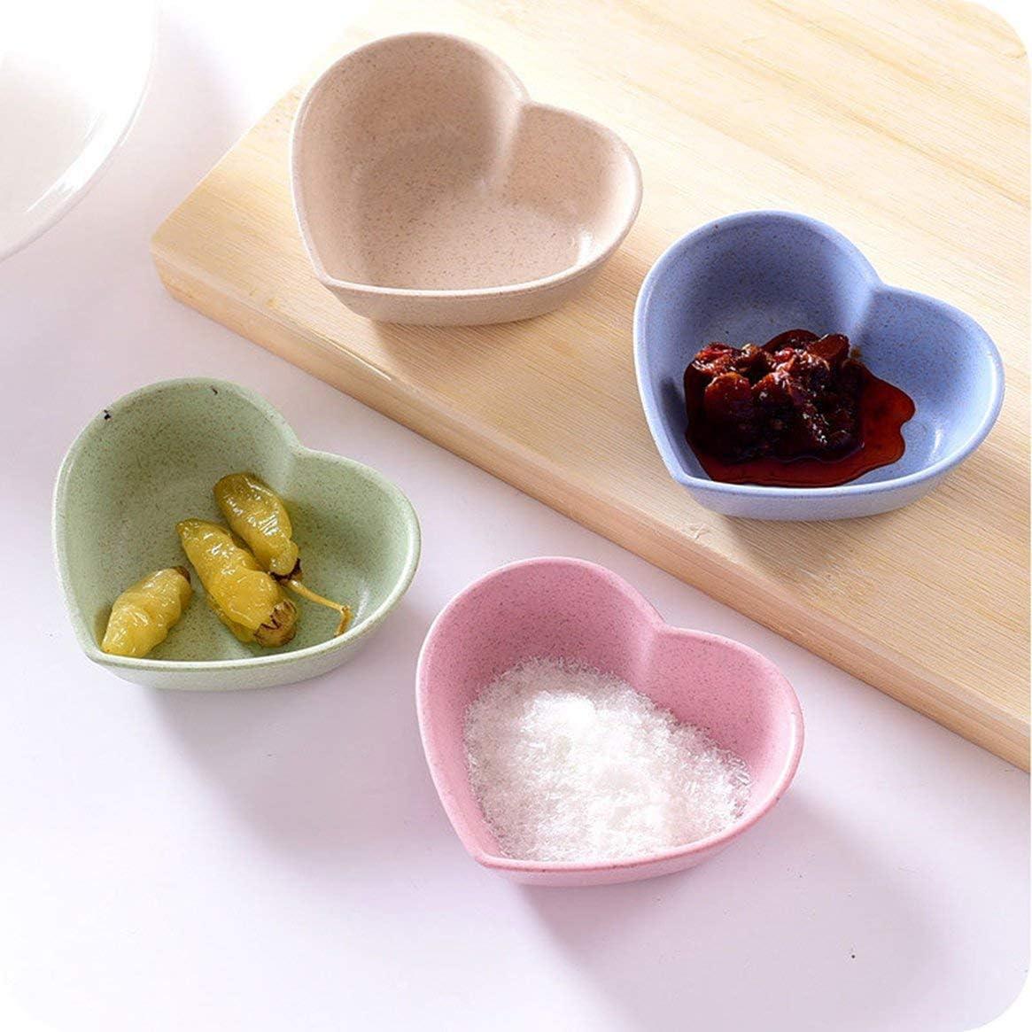 Home Kitchen Wheat Straw Seasoning Dish Creative Plastic Round Pickles Small Dish Tableware Sauce Snack Dish Freeday-uk