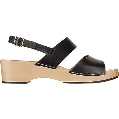 swedish hasbeens Women's Helena Heeled Sandal, Black, ...