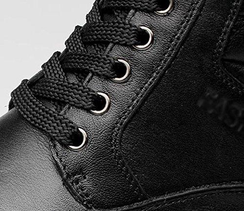 Botas de confort de punta redonda para escalar monta?as de invierno de los hombres black