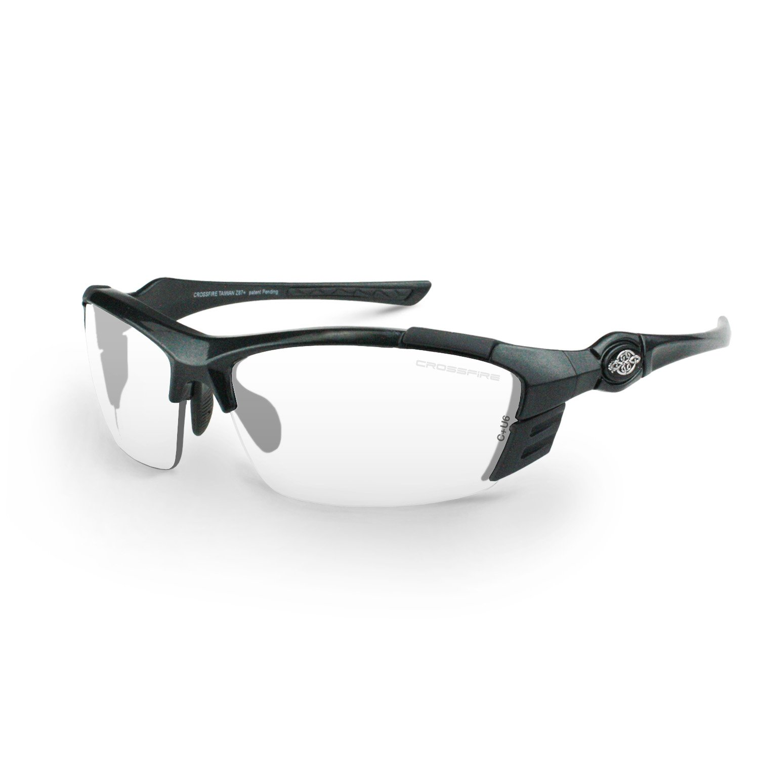 Crossfire Eyewear 3664 TL11 Safety Glasses with Pearl Grey Frame and Clear Lens