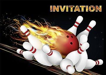 Edition Colibri 10 Invitations Bowling Quilles En Français Lot De 10 Cartes D Invitation Bowling Pour Un Anniversaire D Enfant Ou Pour Une Soirée