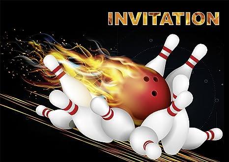 Carte Anniversaire Bowling.Edition Colibri 10 Invitations Bowling Quilles En Francais Lot De 10 Cartes D Invitation Bowling Pour Un Anniversaire D Enfant Ou Pour Une Soiree