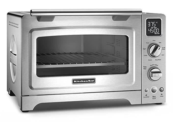 KitchenAid KCO275SS Convection 1800-watt Digital Countertop Oven, 12-Inch, Stainless Steel best toaster ovens