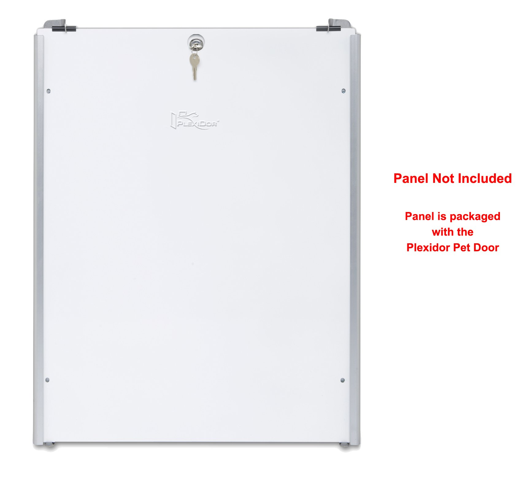 Plexidor Easy Slide Tracks for Security Panel that's Included with Extra Large Stainless Plexidor Pet Doors - Easy Mount, Easy Locking Security Panel Tracks