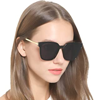 Amazon.com: LVIOE Gafas de sol para mujer, polarizadas, de ...