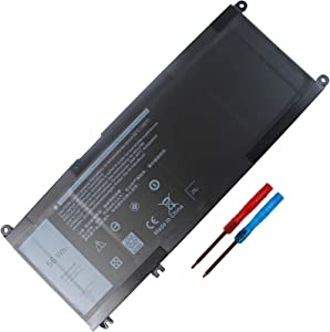 Compatible 56WH 33YDH Laptop Battery for Dell Inspiron 17 7000 7778 7779 7786 7773 15 7577 G3 3579 3779 G5 5587 G7 7588 Latitude 13 3380 14 3490 15 3590 3580 PVHT1 P30E 81PF3 081PF3 PC Notebook.