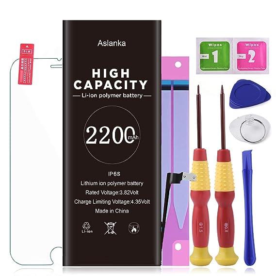 Amazon.com: Aslanka Battery for iPhone 6s, New 2200mAh High ...