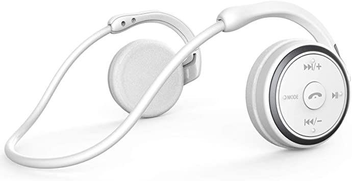 KAMTRON Auriculares inalámbricos Bluetooth Deportivos- Marathon2 Auriculares Inalámbricos con Tecnología de Captura de Voz Clara, Micrófono de Cancelación de Eco, para Gimnasio, Deportivos (Blanco): Amazon.es: Electrónica