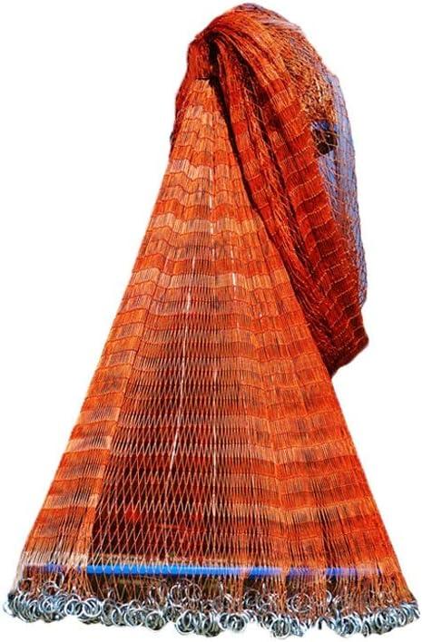 Angelnetze,Wurfnetz Fische Netz Hand Werfen Fishing Cast Net Angeln Netto Sinker Fisch Netze,f/üR Frisches Wasser Salzwasser Capture K/öder Fish Garnele Krabbe,Nylon Faden,Radius 1.62m-2.7m,Masche 1cm