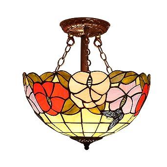 Lámpara Tiffany 12 pulgadas Candelabro Lámpara de techo ...