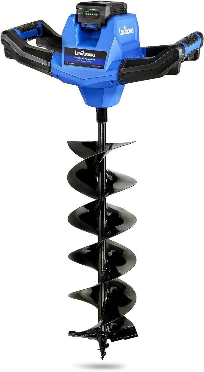 Landworks Earth Auger Power Head Steel 6″ Inch x 30″ Inch Bit