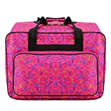 Kemanner Sewing Machine Carrying Case Tote Bag-Padded Storage Cover Carrying Case with Pockets and Handles (Rose Red)