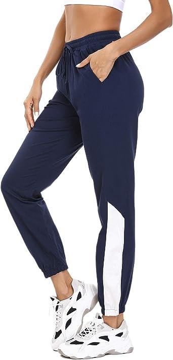 Aiboria Pantalon Chandal Mujer 100 Algodon Largos Moda Casuales Pantalones Deportivos Para Mujer Yoga Fitness Jogger Gimnasio Deportes Amazon Es Ropa Y Accesorios