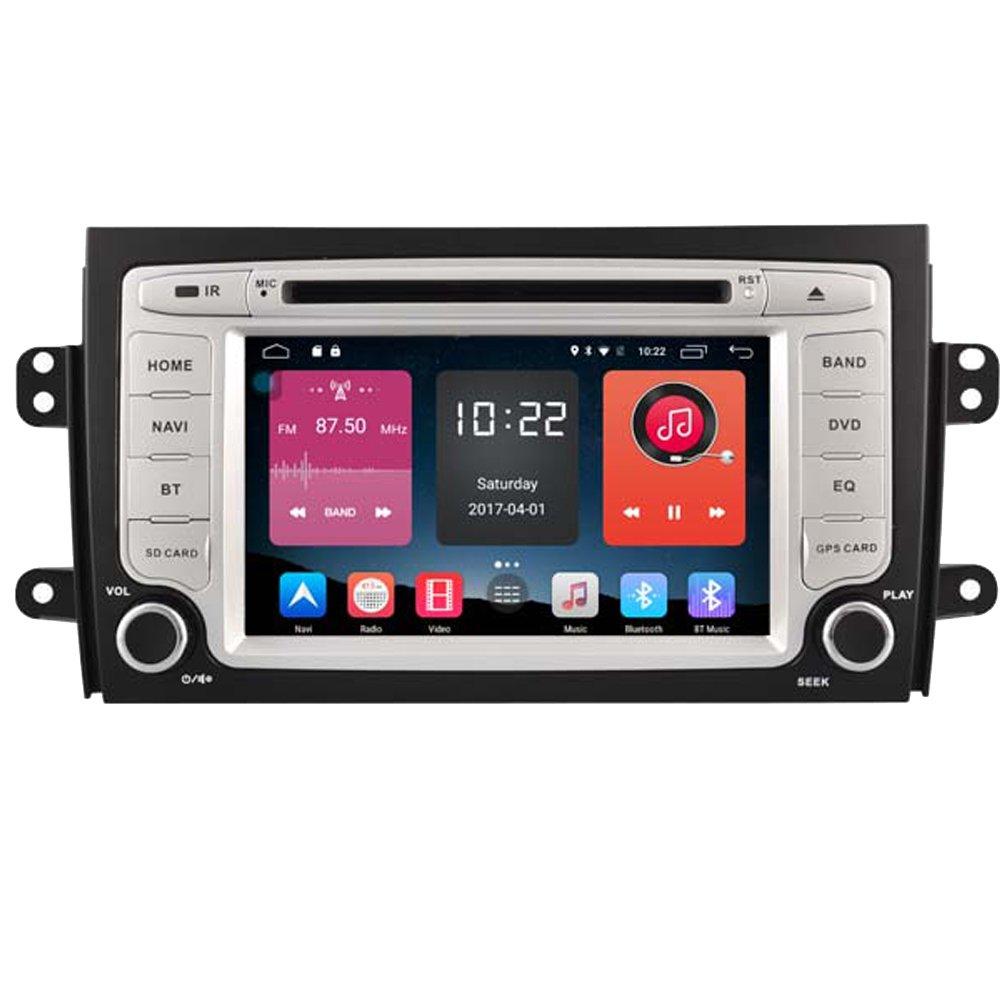 Autosion 7 Inch In Dash Android 6.0 Car DVD Player Radio Head Unit GPS Navigation Stereo Gray for Suzuki SX4 2006 - 2012 Fiat Sedici 2006 - 2012 Support Bluetooth SD USB Radio OBD WIFI DVR 1080P