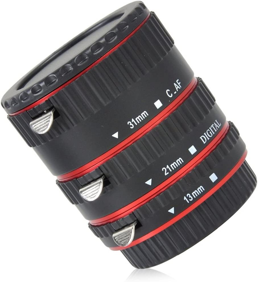 INSEESI Macro Lens Extension Tube with Lens Body and Rear Cap,with Lens Clean Cloth for Canon EOS Cameras