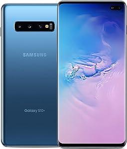 Samsung Galaxy S10+ Factory Unlocked Phone with 128GB (U.S. Warranty), Prism Blue (Renewed)