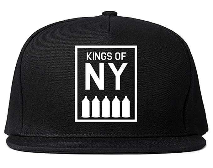 aebebf4c76994 Kings Of NY Spray Can Graffiti Bricks Artwork Wall Painting Art Snapback  Hat Black