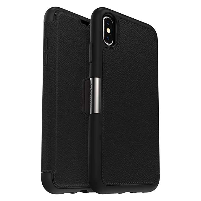 official photos d772e c324d OtterBox STRADA SERIES Case for iPhone Xs Max - Retail Packaging - SHADOW  (BLACK/PEWTER)