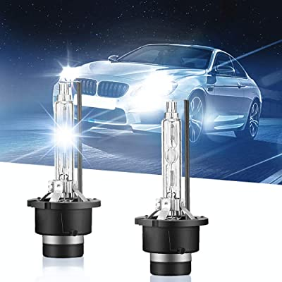 Carrep D2S/D2C 66240 Xenon HID Headlight Bulb 35W Replace for Philips or OSRAM Bulbs (8000K): Automotive