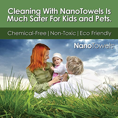 Life Miracle Nano Towels SUPERSIZED The Breakthrough Fabric That Replaces Paper Towels and Toxic Chemical Cleaners. Use As Bath Towels, Kitchen Towels, etc. All Purpose Cleaning Wipes 26x18 by Life Miracle (Image #6)