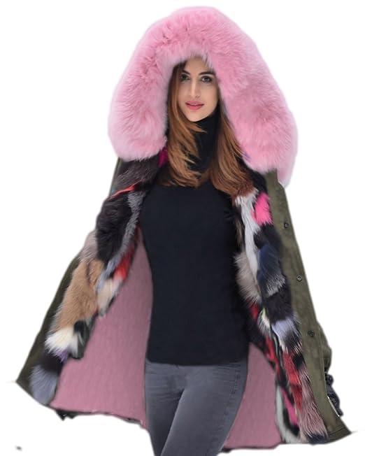 Größen Winter Jacke Gefüttert Top Große Pelz Freizeit Faux Parka Damen Coat Overcoat 50 Kapuzen Trench Army 36 Aofur Steppjacke50xxxlGrün eQdoCxBrW