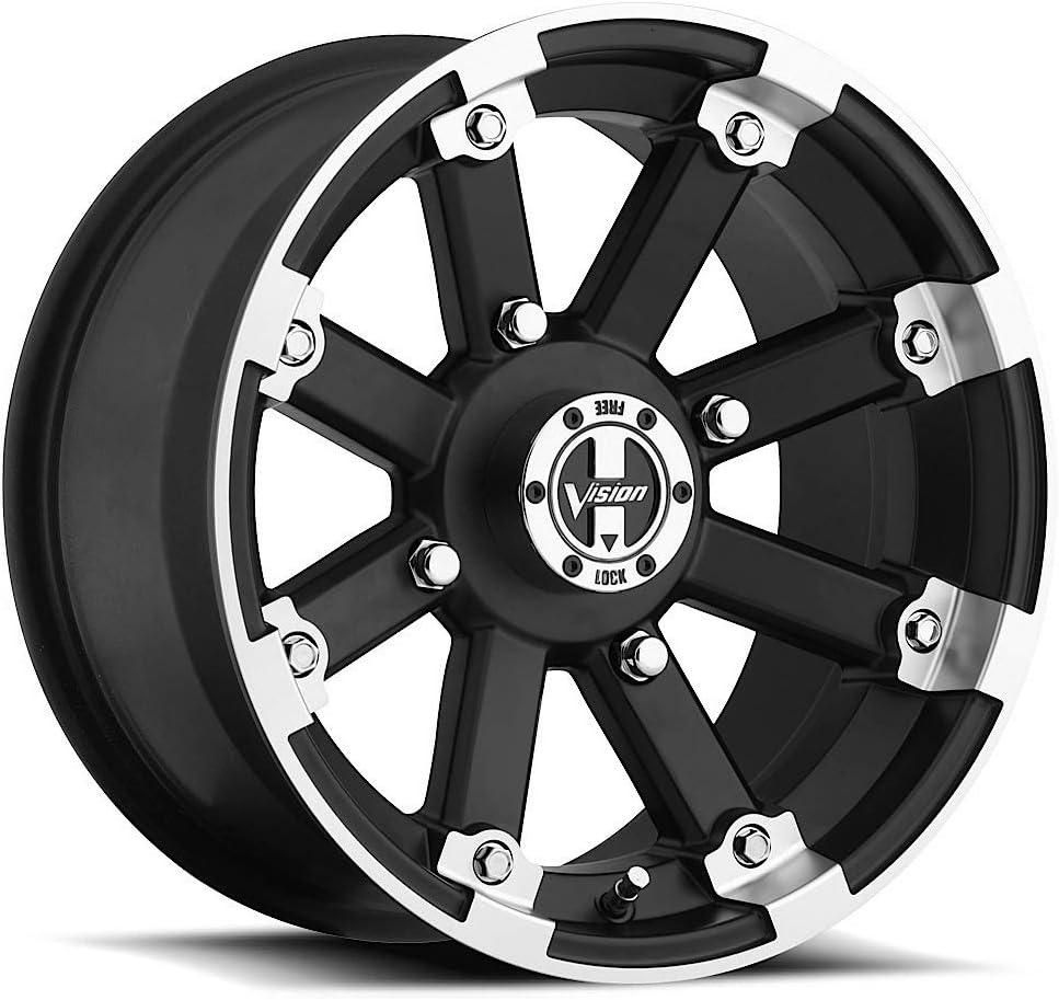 Vision 393 Lockout ATV//UTV 15x8 4x156-10mm Black//Machined Wheel Rim 15 Inch