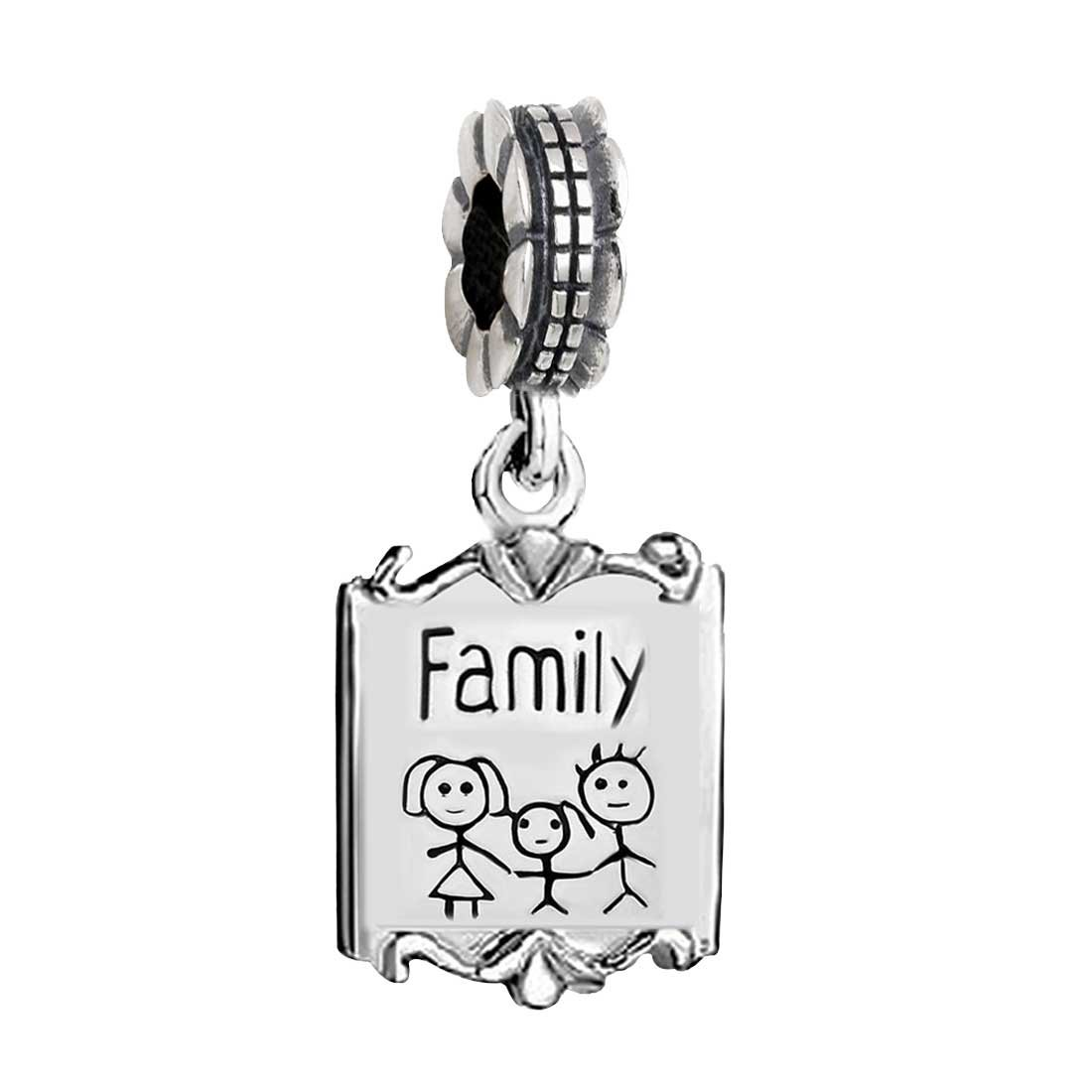 GiftJewelryShop Mothers Day Theme My Heart Belongs to Mom with God All Things are Possible Religious Dangle Charm
