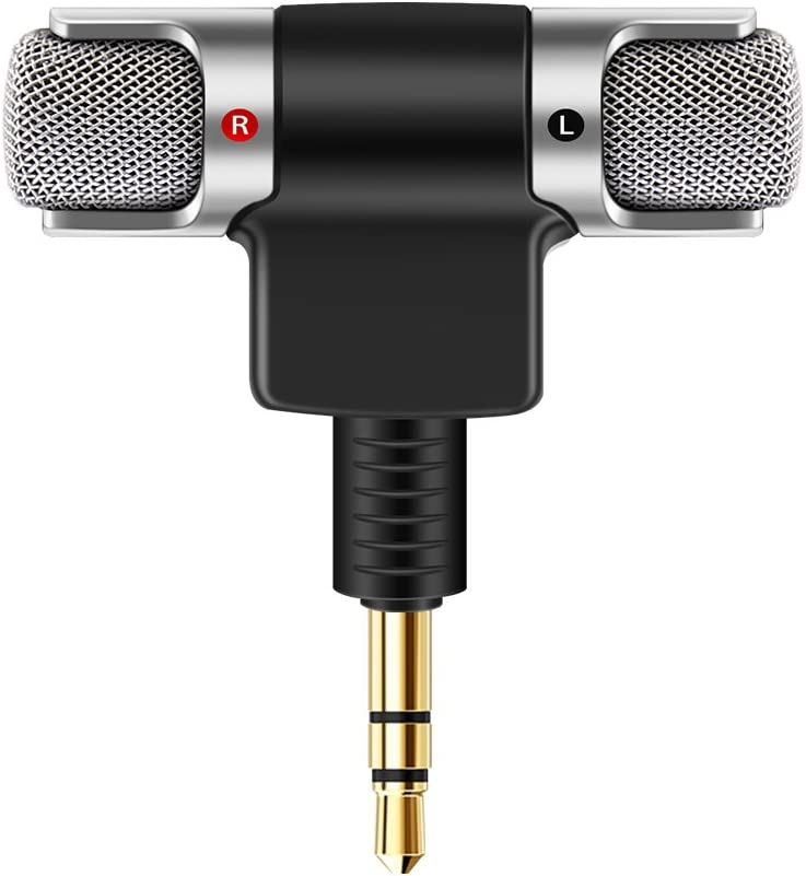 AOZBZ Portable Mini Microphone Mini Portable Digital Stereo Microphone Recorder for Smartphone with 3.5mm Jack Device Recorder