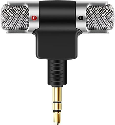 AOZBZ Mini Micrófono Portátil Mini Digital Estéreo Micrófono ...