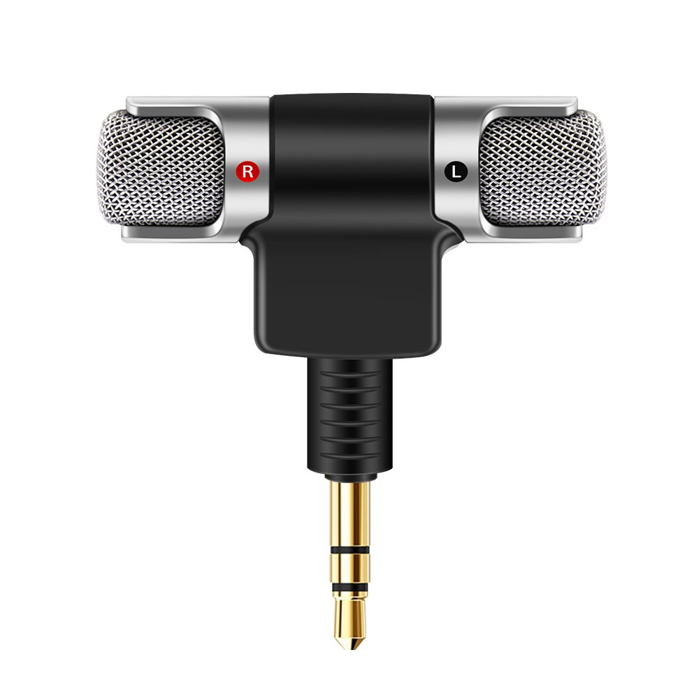 TiooDre Mini Portable Digital Stereo Microphone Recorder for Smartphone with 3.5mm Jack Device Recorder