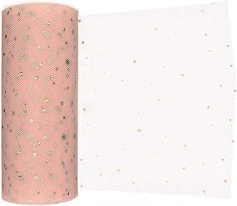 10Yard  Rainbow Glitter Tutu Tulle Roll Soft Netting Craft Fabric Wedding Decor