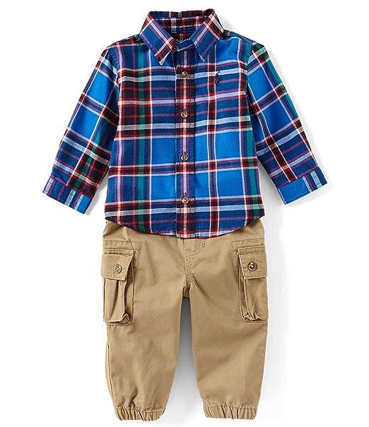 59e72a45 Amazon.com: Ralph Lauren Polo Baby Boys Plaid Shirt & Cargo ...