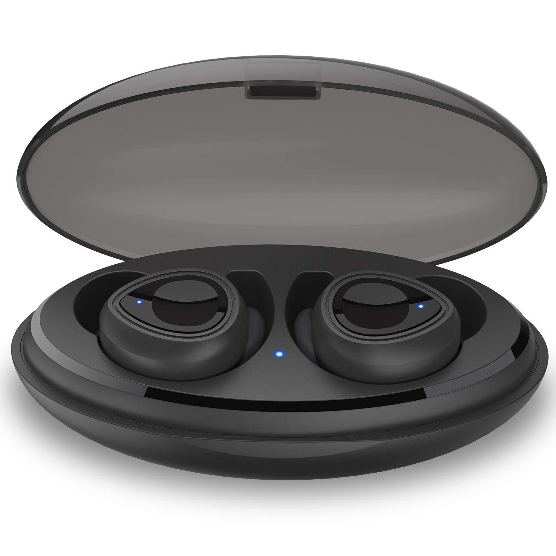 EARNER Gem-Drop ワイヤレスヘッドホン (2019年アップグレード) Bluetooth 5.0 スポーツ HD ステレオイヤホン Hi-Fiサウンド品質 IPX5防水 英語プロンプト付き   B07ML52GZZ