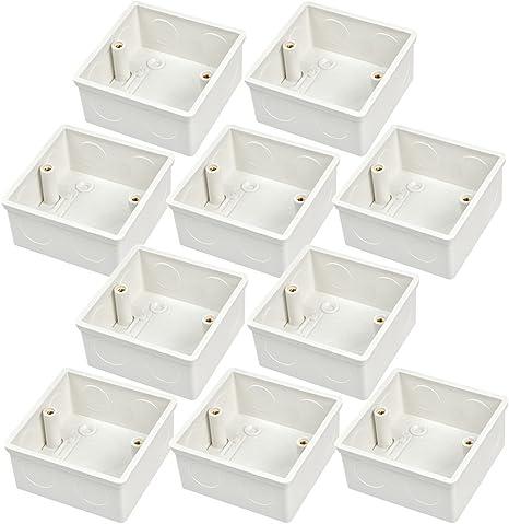 MENGS Paquete de 10 Cajas de empotrar para paredes Vaciar la caja de pared estándar de la caja trasera material termoestable resistente: Amazon.es: Electrónica