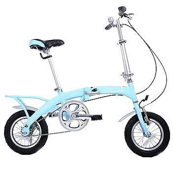 MASLEID bicicleta plegable de aleación de 12 pulgadas , days blue