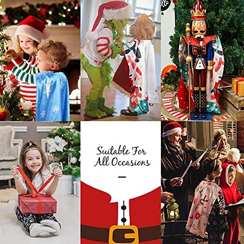 3 otters Christmas Costumes for Kids, Christmas Cape Kids Christmas Dress Up Christmas Gifts 2pcs