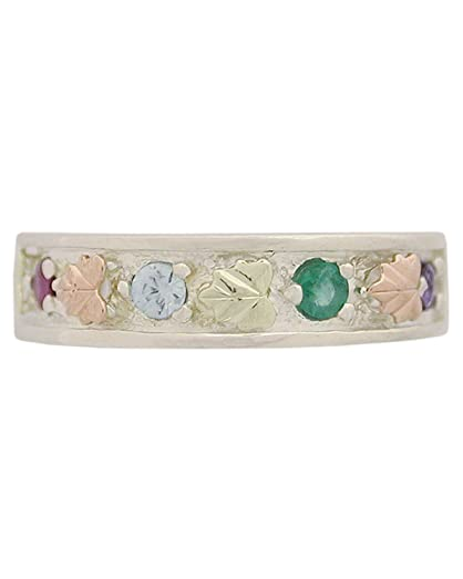Amazon Womens Sterling Silver 12k Green Gold 12k Pink Gold