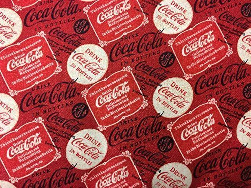 Coca Cola Color Advertisement - Handcrafted Valance Sewn From Coca Cola Sign Label Coke Advertisement Red Fabric