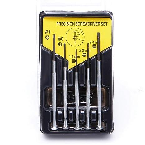 jiamins 5pcs/set Herramienta de reparación de destornillador para gafas Set atornillador destornillador, herramienta de mini relojero juego de ...